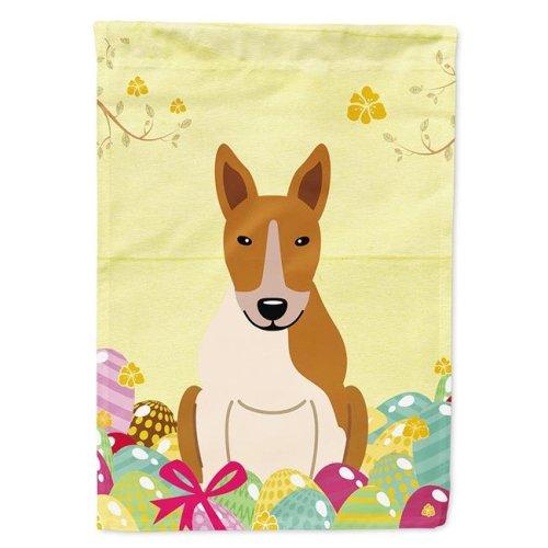 Carolines Treasures BB6135GF Easter Eggs Bull Terrier Red White Garden Size Flag
