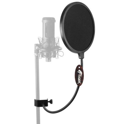Tiger Microphone Pop Screen with 360 Degree Flexible Gooseneck