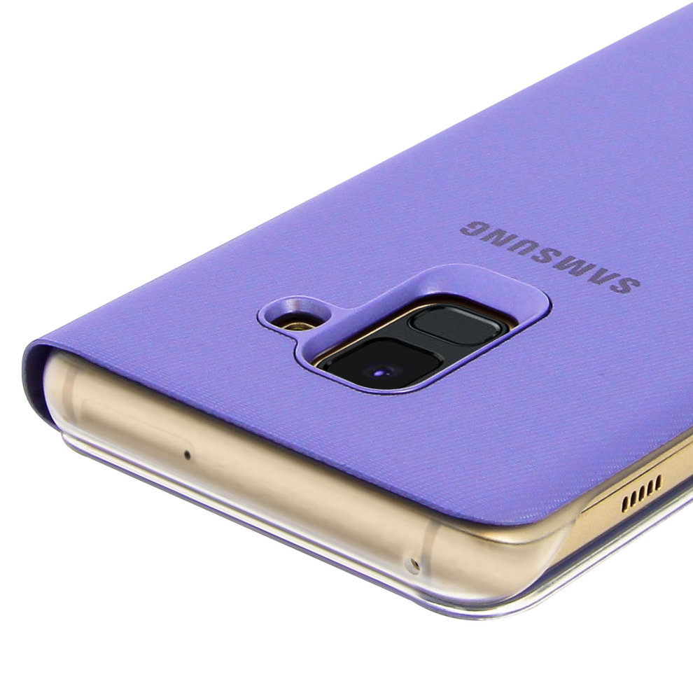 hot sales 7ff5f 8b4c9 Official Samsung Neon Flip Cover for Samsung Galaxy A8 - Purple