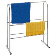 Chrome Plated Free Standing Towel Rail -  towel chrome rack plated free standing rail sabichi x clothes bathroom
