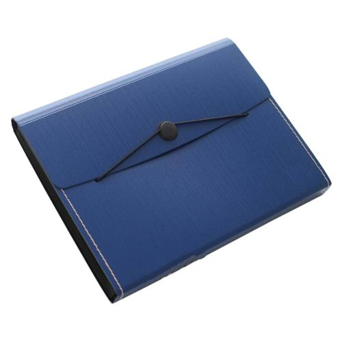 Non-portable Multilayer Student Paper Clip Plastic A4 Information Bag-Blue