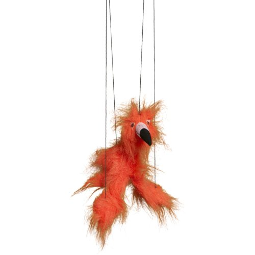Sunny Toys WB322 16 In. Baby Flamingo - Orange-Red, Marionette Puppet