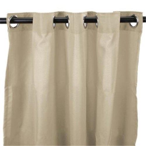 Jordan Manufacturing 3VOC5496-1328Q 54 in. x 96 in. Outdoor Curtain - Solid Linen