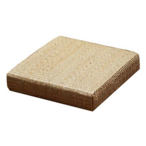 Japanese Style Handcrafted Straw Flat Seat Cushion Square Meditation 45x45x10cm