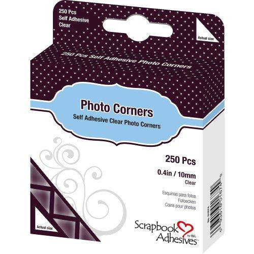 "Scrapbook Adhesives Photo Corners Self-Adhesive .375"" 250/Pk-Clear"