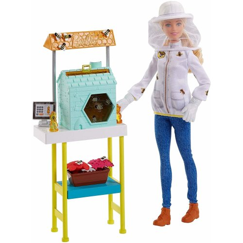 Barbie Careers Doll, Beekeeper Playset with Accessories