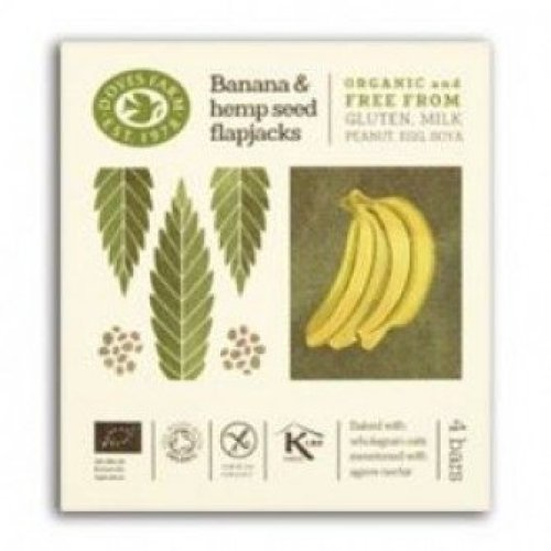 Doves Farm - Free From Banana & Hemp Seed Flapjack Multipack (35gx4) x 7