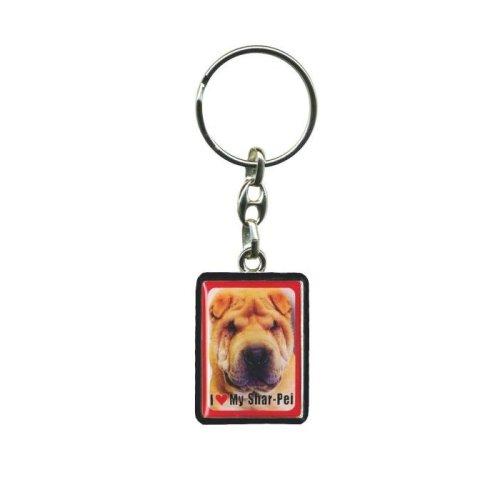 Shar-Pei Dog Keyring