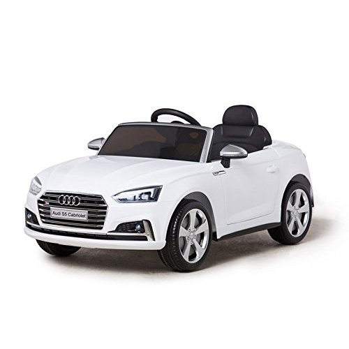 Licensed Audi S5 12V Ride on Car White  Children's Electric Ride on Car White + 2 Volts + Open Doors + Parent Remote Control + Seat Belts