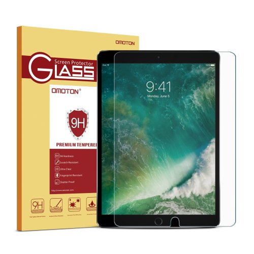 OMOTON Tempered-Glass Screen Protector iPad Pro 10.5 [9H Hardness]