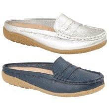 ladies Santa Monica Real Leather mule loafers