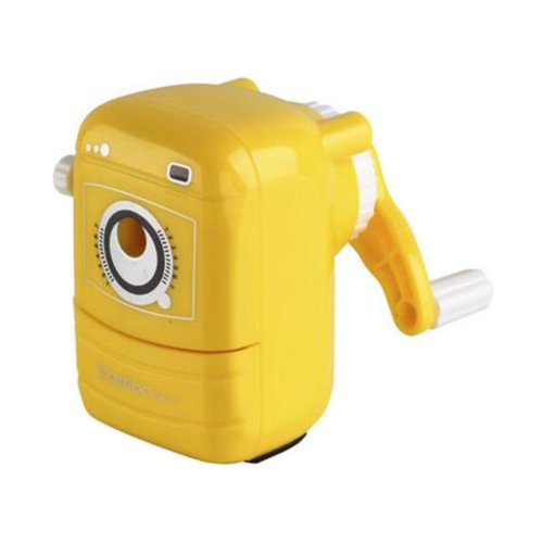 Single-Hole Manual Pencil Sharpener, Random Color Classroom Office Home Use