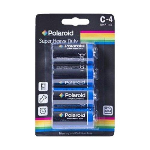 Polaroid 4PK C Size Heavy Duty Battery C-4