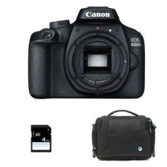 CANON EOS 4000D Body Black + Bag + 16gb SD card