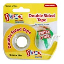 12mm x 12m Double Sided Tape - Sti 2 Dispenser -  stix 2 double sided tape dispenser 12mm