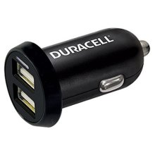 Duracell In-Car USB Charger Auto Black mobile device charger