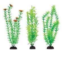 "Plastic Aquarium Plants 8"" Penn Plax, Pack Of 6 Green Assorted"