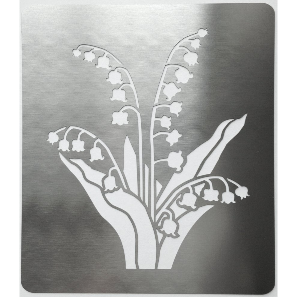Stainless Steel Crafting Stencil 10cm X
