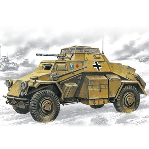 ICM Models Sd.Kfz.222 Light Armored Vehicle Building Kit