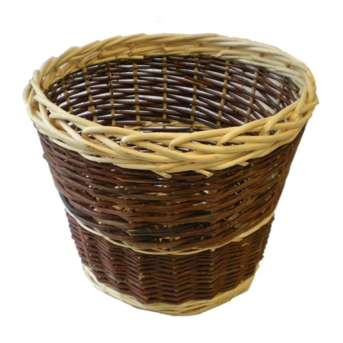 Wicker Wastepaper Basket 2-tone Rustic