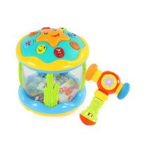 Musical Electric Baby Toys Hand Drum Toddler Instrument Percussion Set for Children, Drum+Hammer