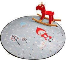 Round 80 CM Child Rugs Play Carpet Chair Cushion Swivel Chair Cushion-A11