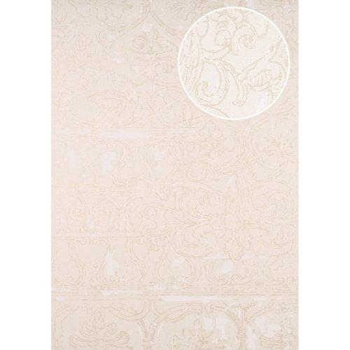 ATLAS CLA-599-3 Baroque wallpaper shimmering beige oyster white 5.33 sqm