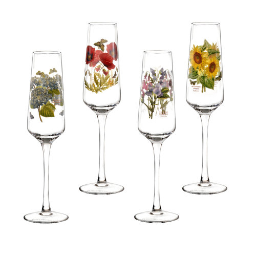 Portmeirion Set of 4 Botanic Garden Champagne Flutes