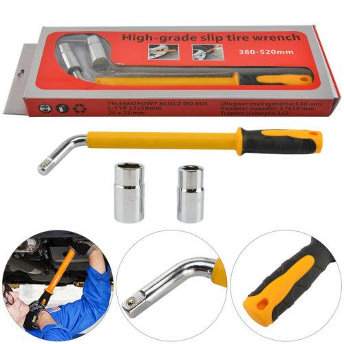 17 19 21 23mm HEAVY DUTY Extendable Car Wheel Brace Socket Tyre Nut Wrench 6-18