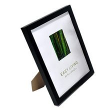 Set Of 2 Decorative Wood 4-by-6-Inch Picture Photo Frame, Black