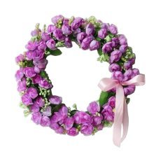 Artificial Wreath Hanging Floral Garland Door Wreath Wedding Decor #05