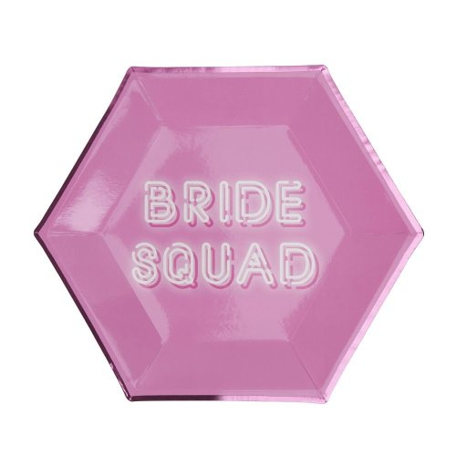 Bride Squad - Paper Plate - 8 Pack