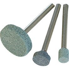 Silverline Rotary Tool Grinding Stone Set 3pce 5, 9, 20mm Dia -  grinding set tool rotary stone silverline 5 9 20mm 868811 3pce dia dremel