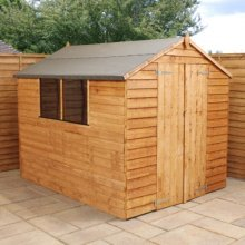 8x8 Overlap Apex Shed Double Door