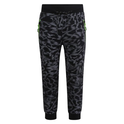 Boys Scratch Print Tracksuit Trousers FY-803 in Black 3-4 Years