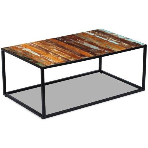 Vidaxl Coffee Table Desk Furniture Home Decor Solid Reclaimed Wood 100x60x40 Cm