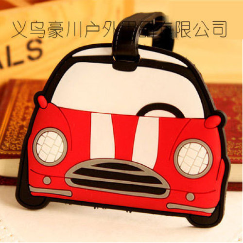 Red Taxi Car Luggage Tag