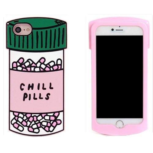 timeless design c58f7 5e2a7 Leosimp Chill Pills Case for iPhone SE 5 5S 5C, iPhone 5G Cute 3D Cartoon  Fashion Animal Cover,Leosimp Kids Girls Lady Fun Gift, Soft Silicone Gel...