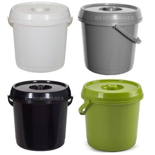 14L Plastic Nappy Buckets Baby Bin With Lid 3 Gallon Storage Bucket