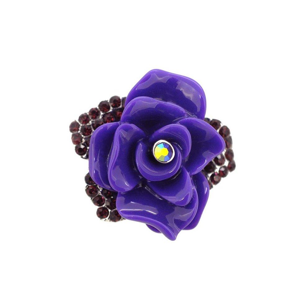 18706e54d24 Fantasyard Dark Rose Pin Brooch - Amethyst Purple - 1.5 x 1.5 in. on ...