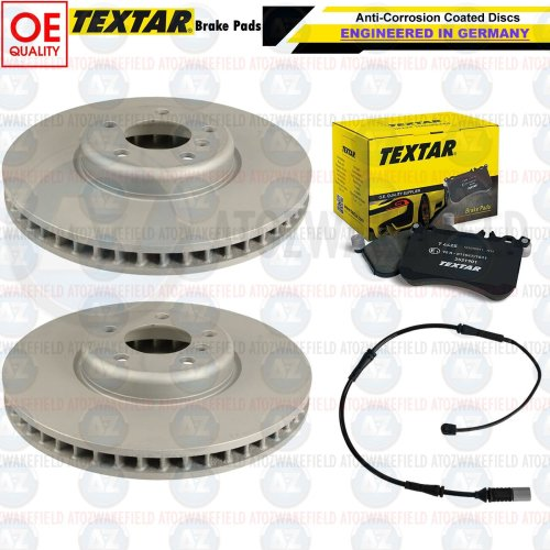 FOR BMW M235i M SPORT FRONT OE QUALITY COATED BRAKE DISCS TEXTAR PADS WIRE 340mm