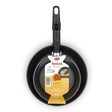 2pc Tefal Extra Non-Stick Frying Pans | Black Tefal Extra Frying Pan Set
