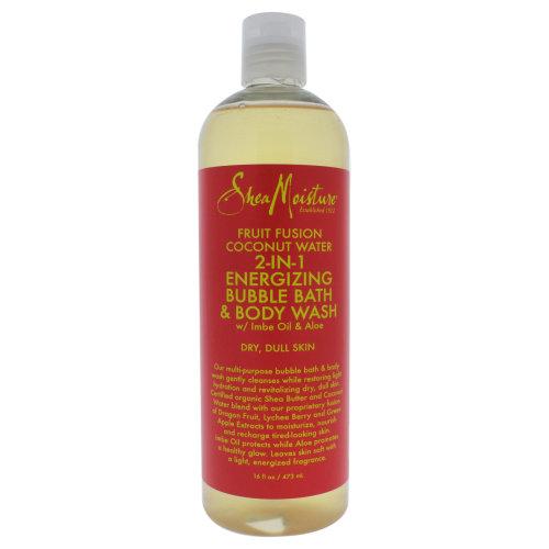 Shea Moisture Fruit Fusion Coconut Water Energizing Bubble Bath & Body Wash - 16 oz Body Wash
