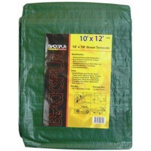Blackspur 10' X 12' Tarpaulin Green -  x blackspur tarpaulin green 10 12