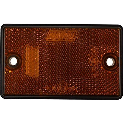 Maypole Oblong/rectangular Reflectors With Screw Holes | Amber - Mp8723 2x -  reflectors amber maypole mp8723 2x rectangular oblong trailer caravan