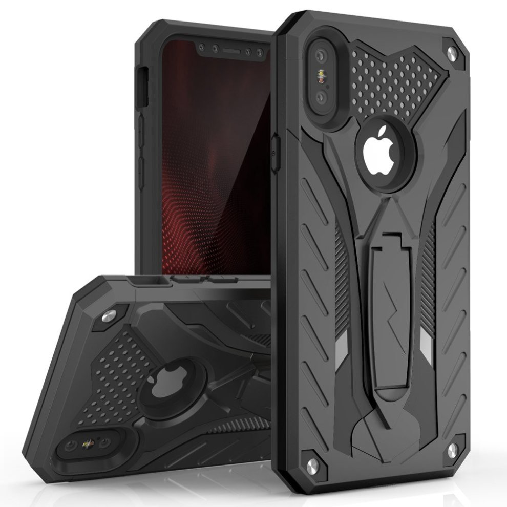 on sale c4994 cc32e Zizo iPhone X Case - Zizo [Static Series] Shockproof [Military Grade Drop  Tested] w/ Kickstand [iPhone X Heavy Duty Case] Impact Resistant