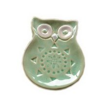Japanese Style Cute Green Owl Ceramic Soap Dish