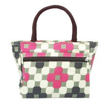 Ladies Fashionable Medium Purse Handbag Printed Tote Bag With Zipper