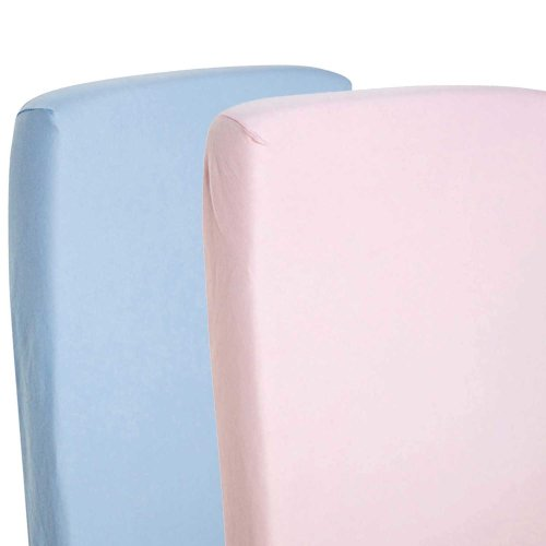4x Jersey Fitted Sheet 100/% Cotton Crib 40x90cm Pink