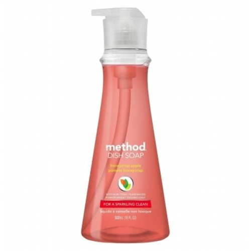 Method Products MTH01404EA Honeycrisp Detergent Dish Soap, Red - 9 x 3.52 x 3.52 in.